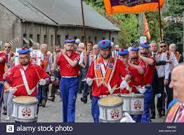 Donaghcloney, Condado de Down, Irlanda del Norte.12 de julio de 2018.  Desfile de la Orden de Orange, el 12 de julio en Irlanda del Norte. El 12  de julio está marcado por