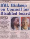 Ifill, Hinkson on Council for Disabled board - 2013-07-04 - Daily Nation - Page 17