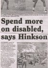 Spend more on disabled, says Hinkson - 2014-08-21 - Daily Nation - Page17
