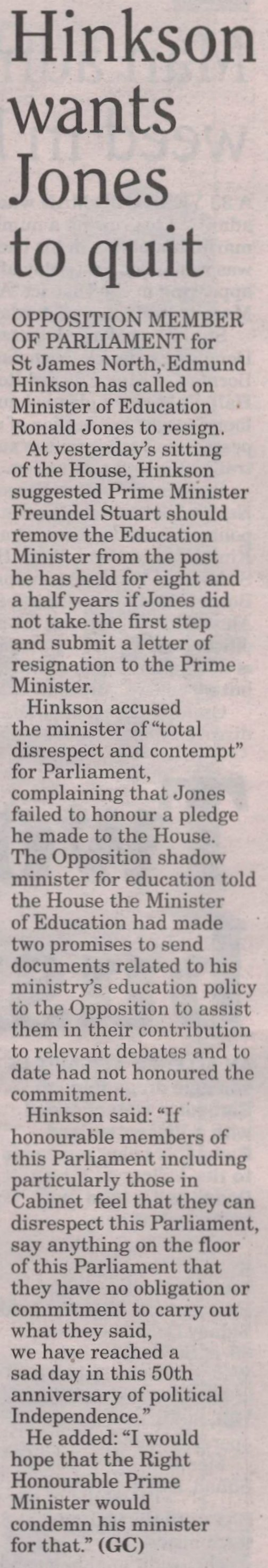 2016-05-04 - Midweek Nation - Page17A - Hinkson wants Jones to quit