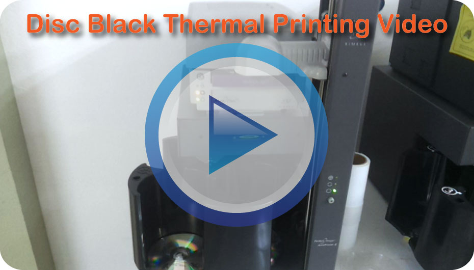 Low Volume CD & DVD Black Digital Printing Video