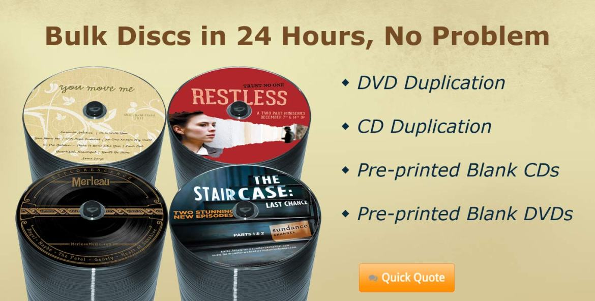Super fast DVD and CD Duplication