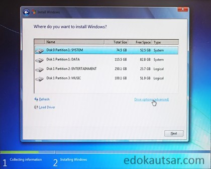 Cara instal laptop windows 7