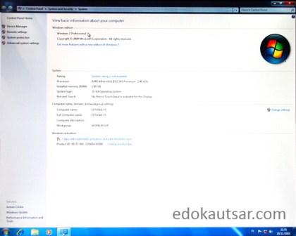 Install laptop baru windows 7
