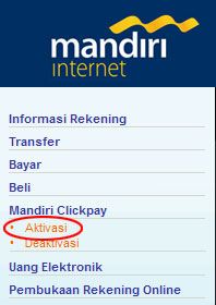 Aktivasi Mandiri Clickpay