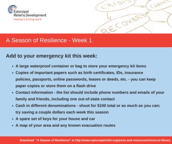 A Season of Resilience- Week 1