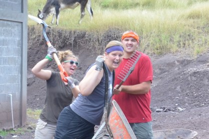 We had lots of fun digging