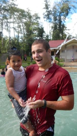 Dexter & me at the pool