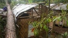 Pastor Jojo's old house damaged in typhoon