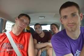 Andrew, Johnny, Anton & Bryan en route to ministry