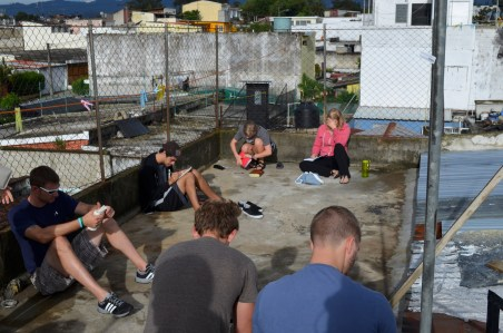 Rooftop worship in Guatemala City