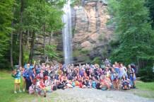 Squad at Waterfall