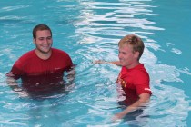 SBJ and Me in the pool
