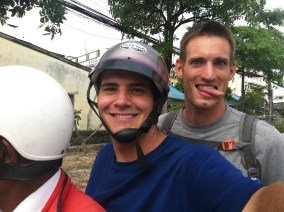 Bryan & me on a moto-taxi