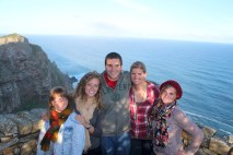 On top of Cape Point with the girls