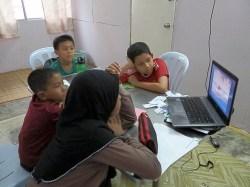 Students learning via YouTube (amazing)