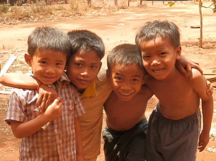 Cute Kids in Cambodian Village