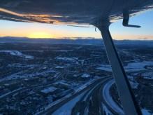 Winter evening in Denver