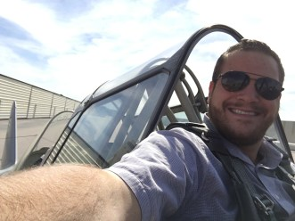 Flying in the T6 for the first time
