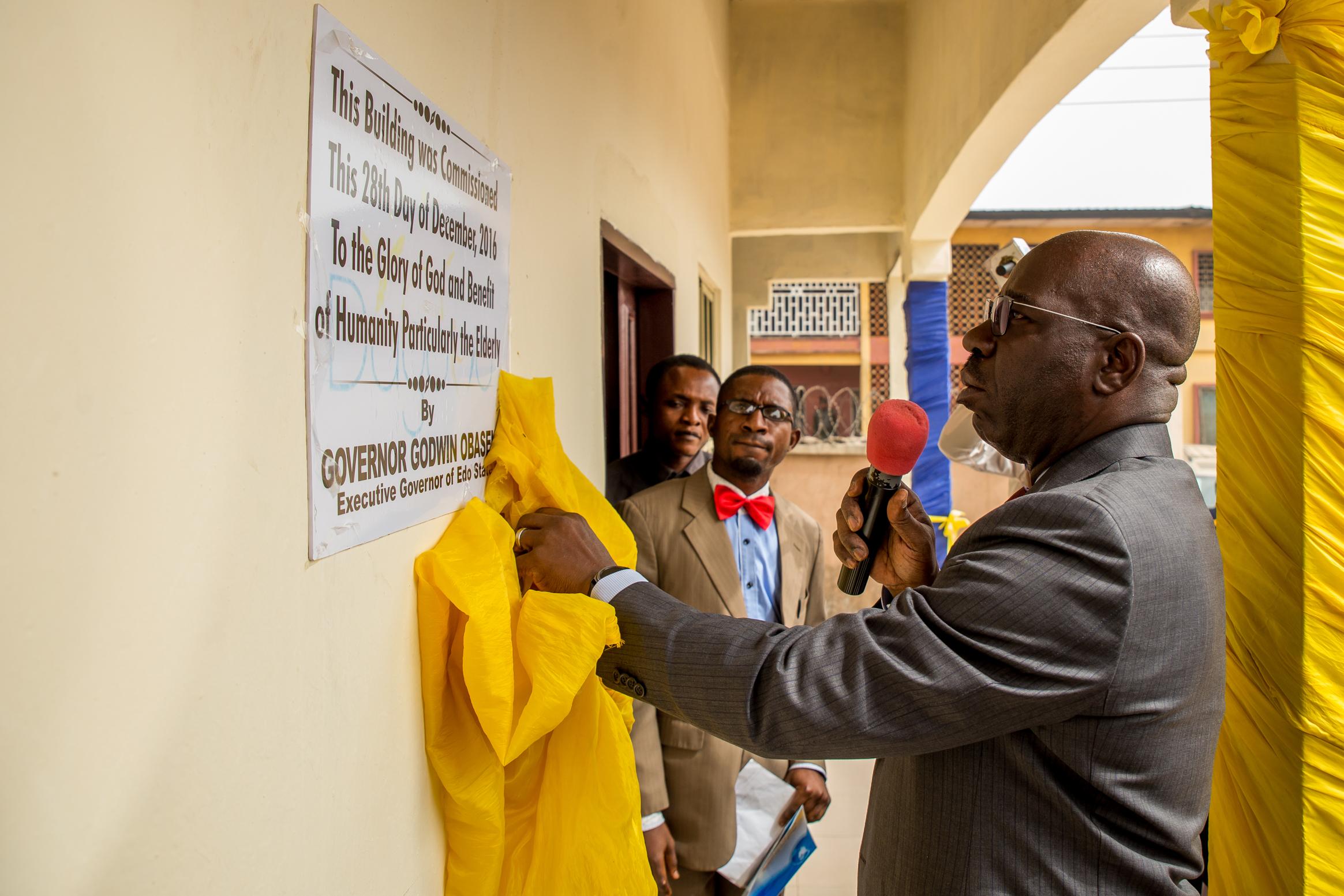 Obaseki inaugurates Dagomo's Elderly Care Center, stresses care for the needy