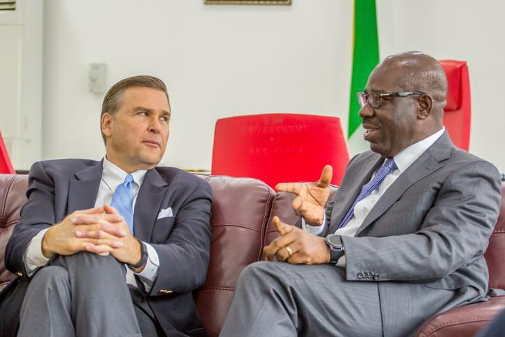 Obaseki to US Ambassador: 'We will make Edo an economic hub'