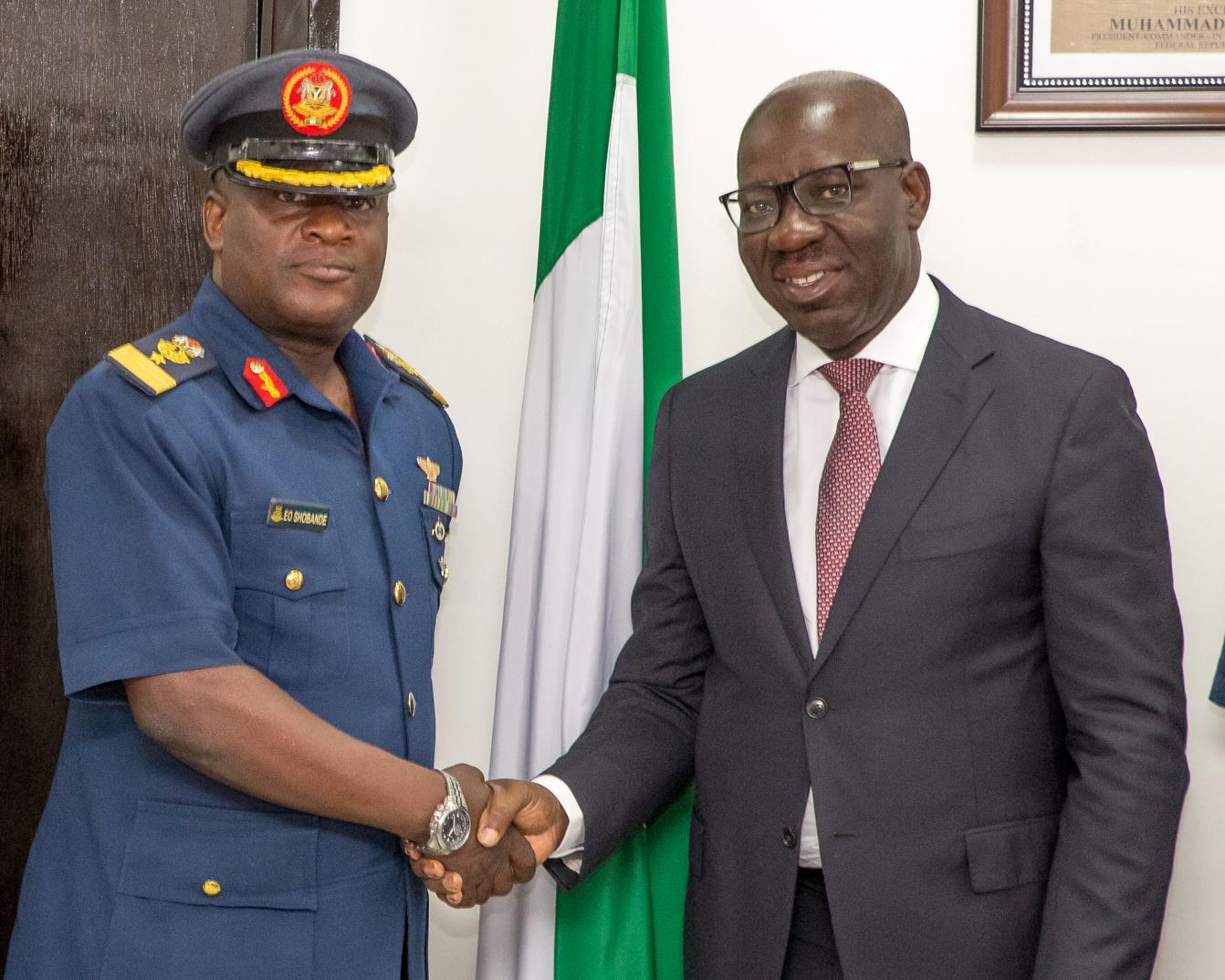 Obaseki charts security in Edo with Nigerian Air force