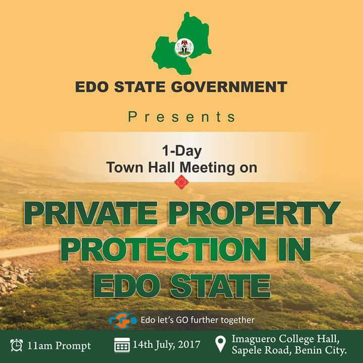 Edo to hold Town Hall Meeting on PPP Law