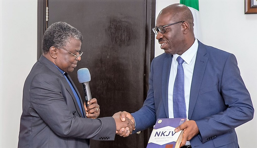 Nation Building: Obaseki seeks stronger ties between Church, Govt
