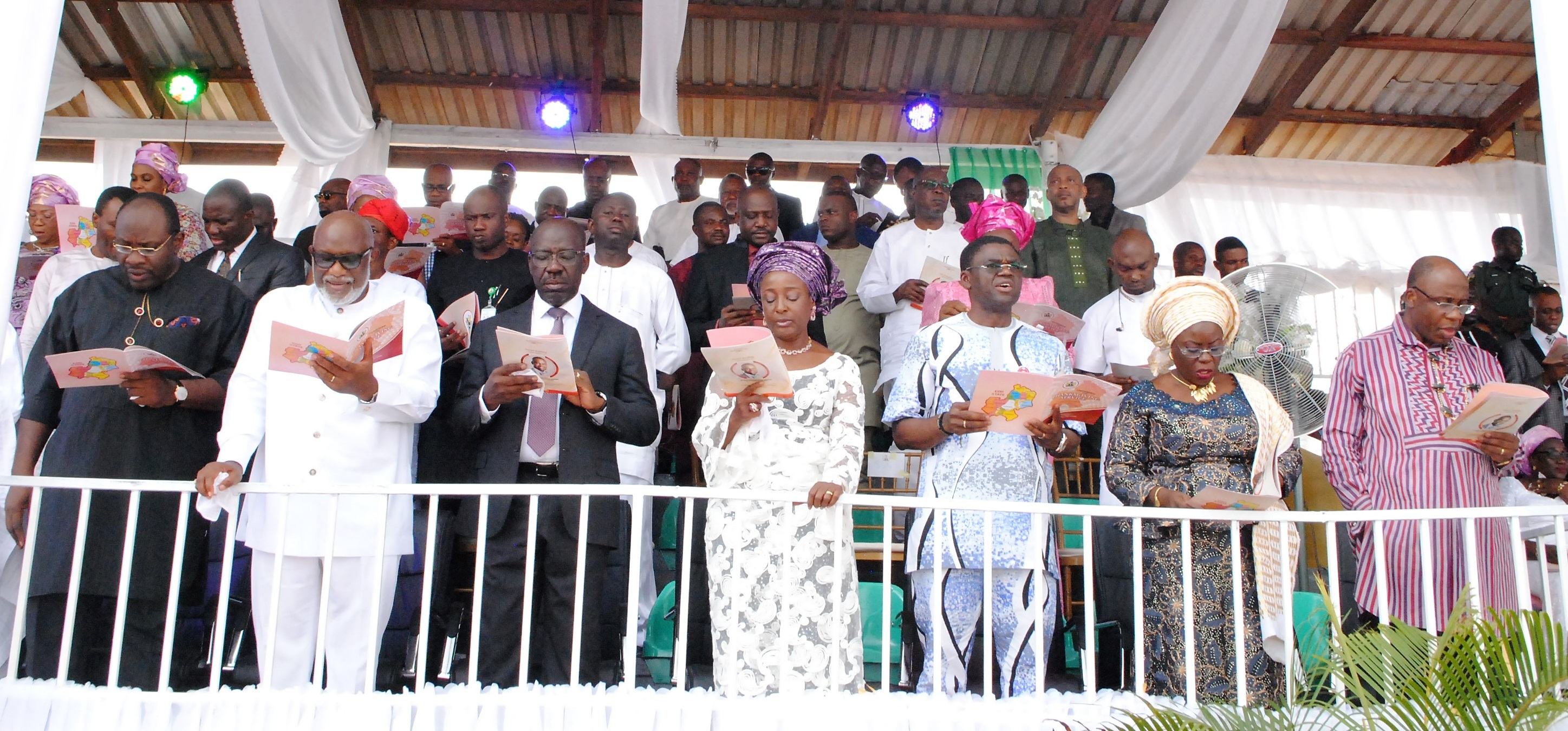 One Year Anniversary Thanksgiving: CAN Chair, Oshiomhole, Dickson laud Obaseki's achievements
