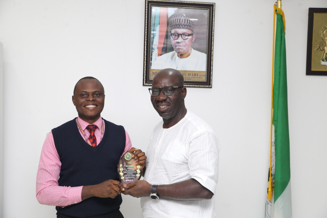 Obaseki charges youths to emulate winner of NCDMB essay competition, Osamede