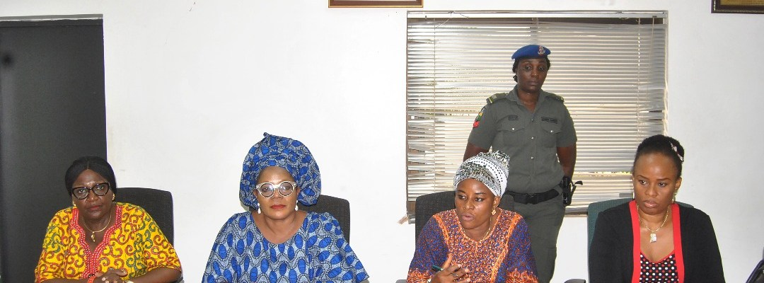 L-R: Director, Ministry of Women Affairs and Social Development, Mrs. Margret Obazuaye; Permanent Secretary, Mrs. Julie Olatunji; Commissioner, Hon. Magdalene Ohenhen and the Special Adviser to the Governor on Gender, Ms. Efosa Uyigue, during an orientation programme for Special Assistants to the governor on Gender at the Government House, in Benin City, Edo State capital.