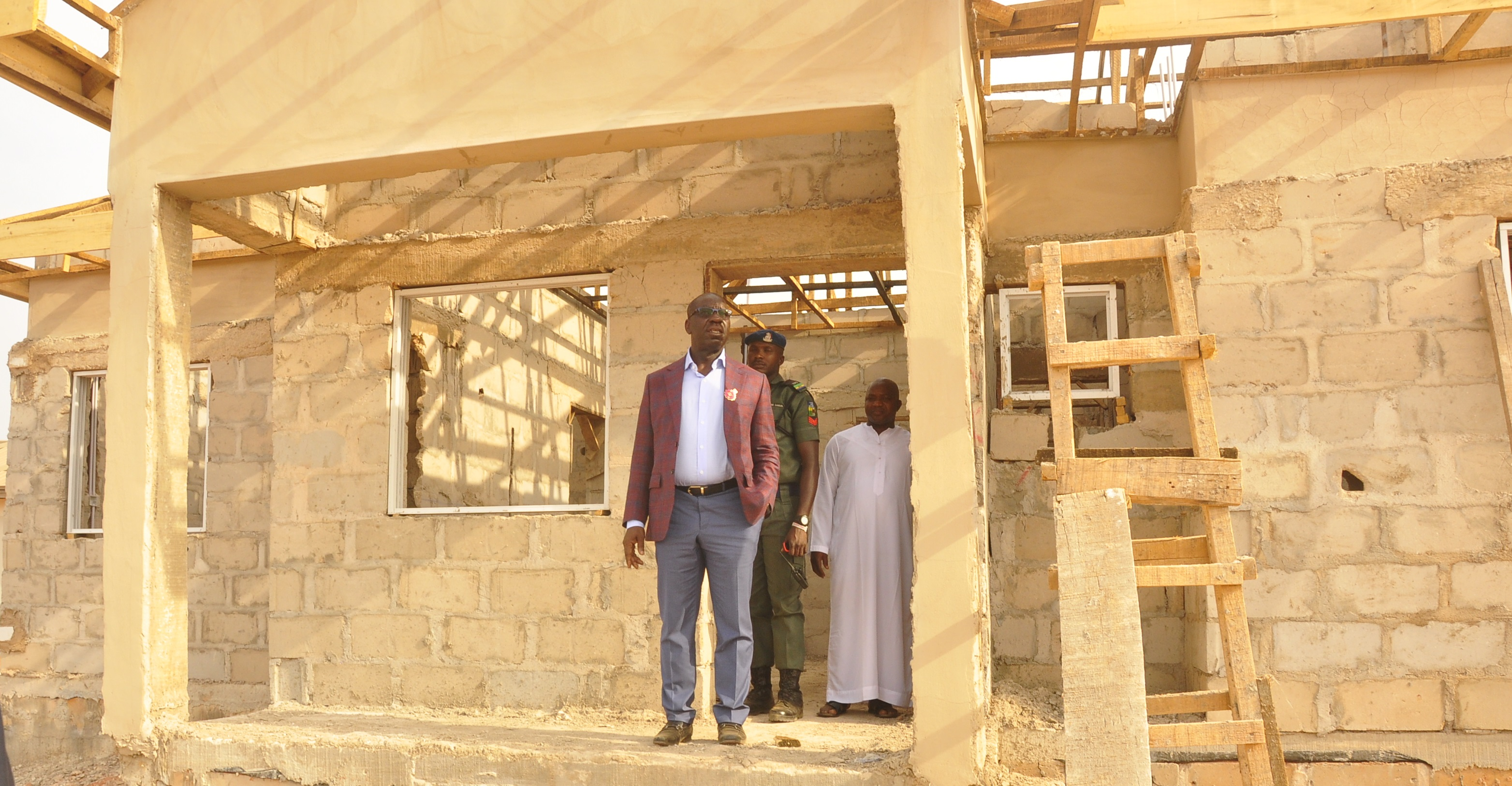 Emotan Gardens: Obaseki inspects progress of work on estate, says project on course