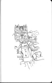 Céthédrale, vue depuis la tour Bretagne