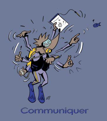"""Formation club de plongée : compétence """"Communiquer"""""""
