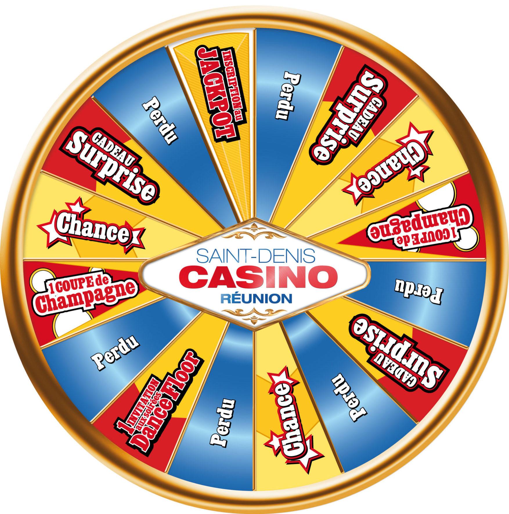 Roue de la fortune pour le Casino St Denis (974)