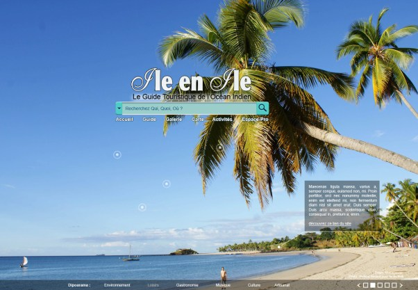 Webdesign page d'accueil