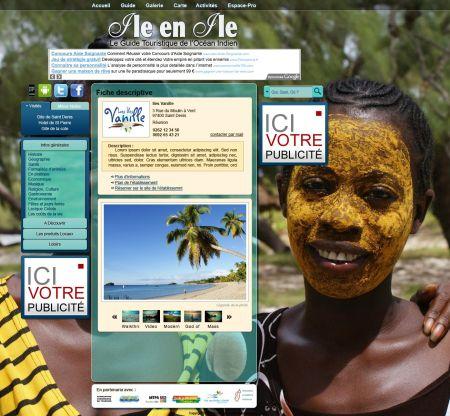 Webdesign page interne