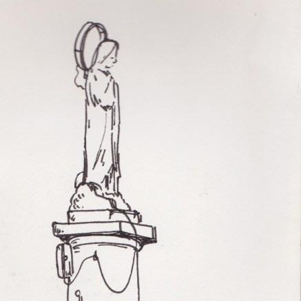 Vierge avec une auréole électrique