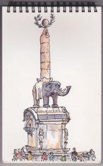 La Fontaine de l'éléphant (Catane)
