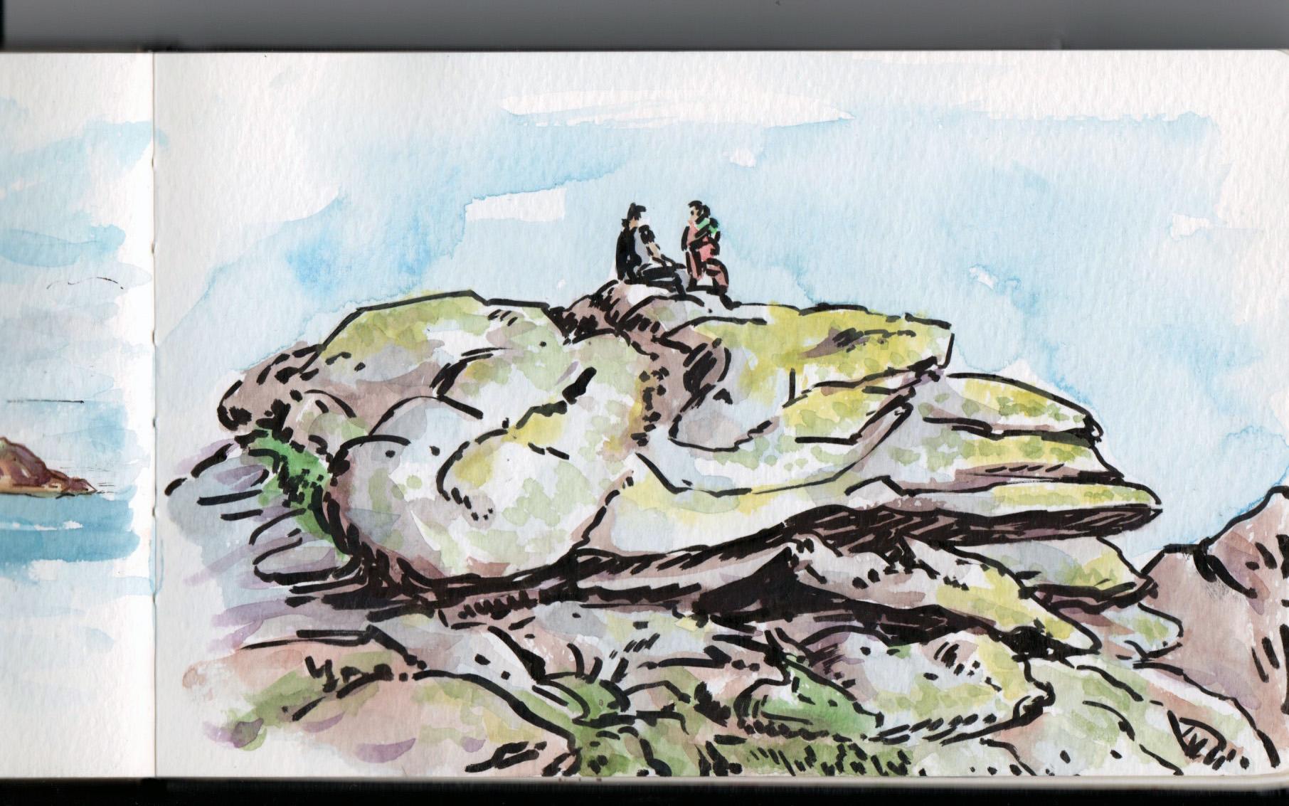 Les rochers des côtes bretones