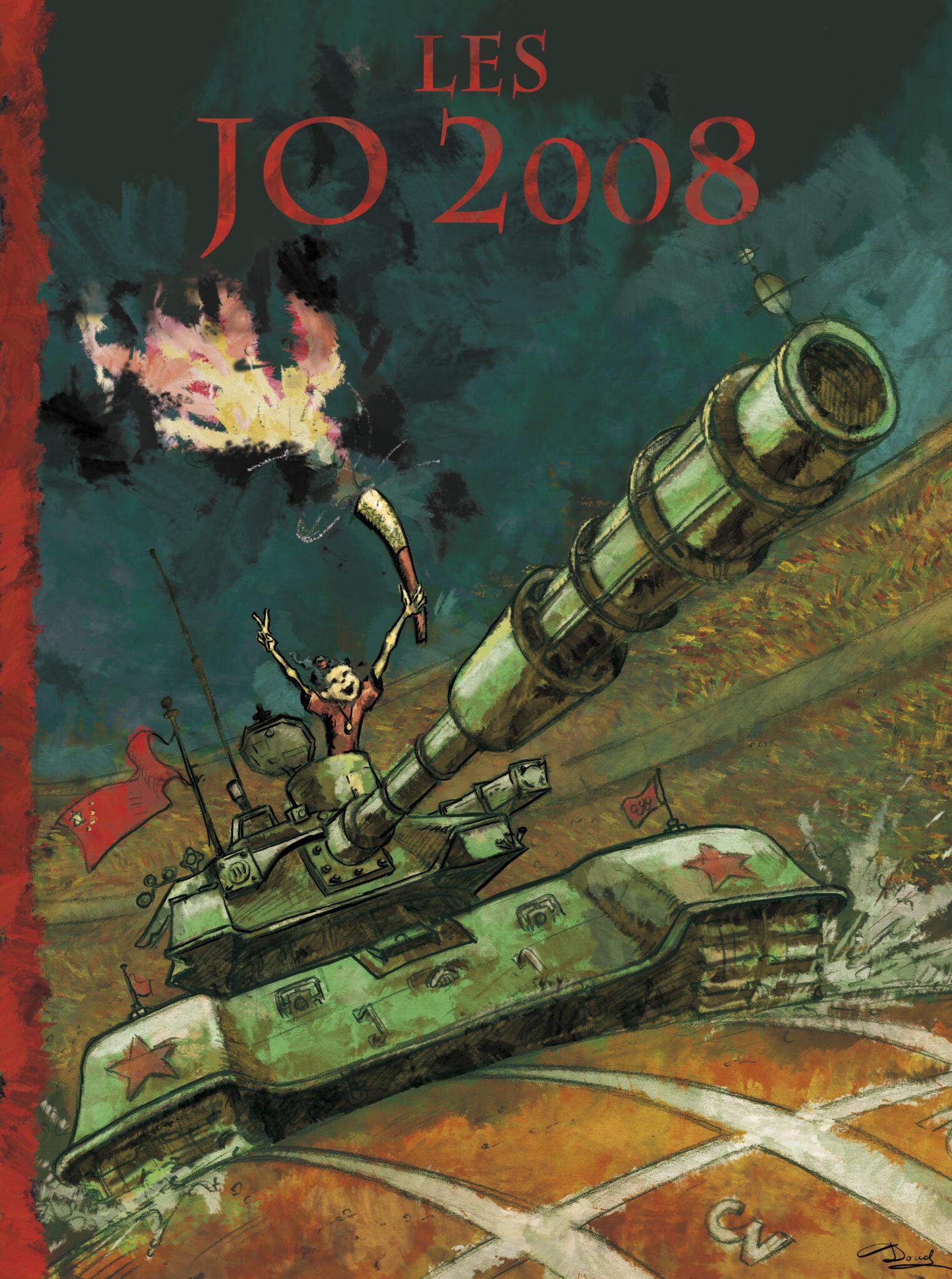 Les JO 2008 (crayon et mise en couleur numérique)