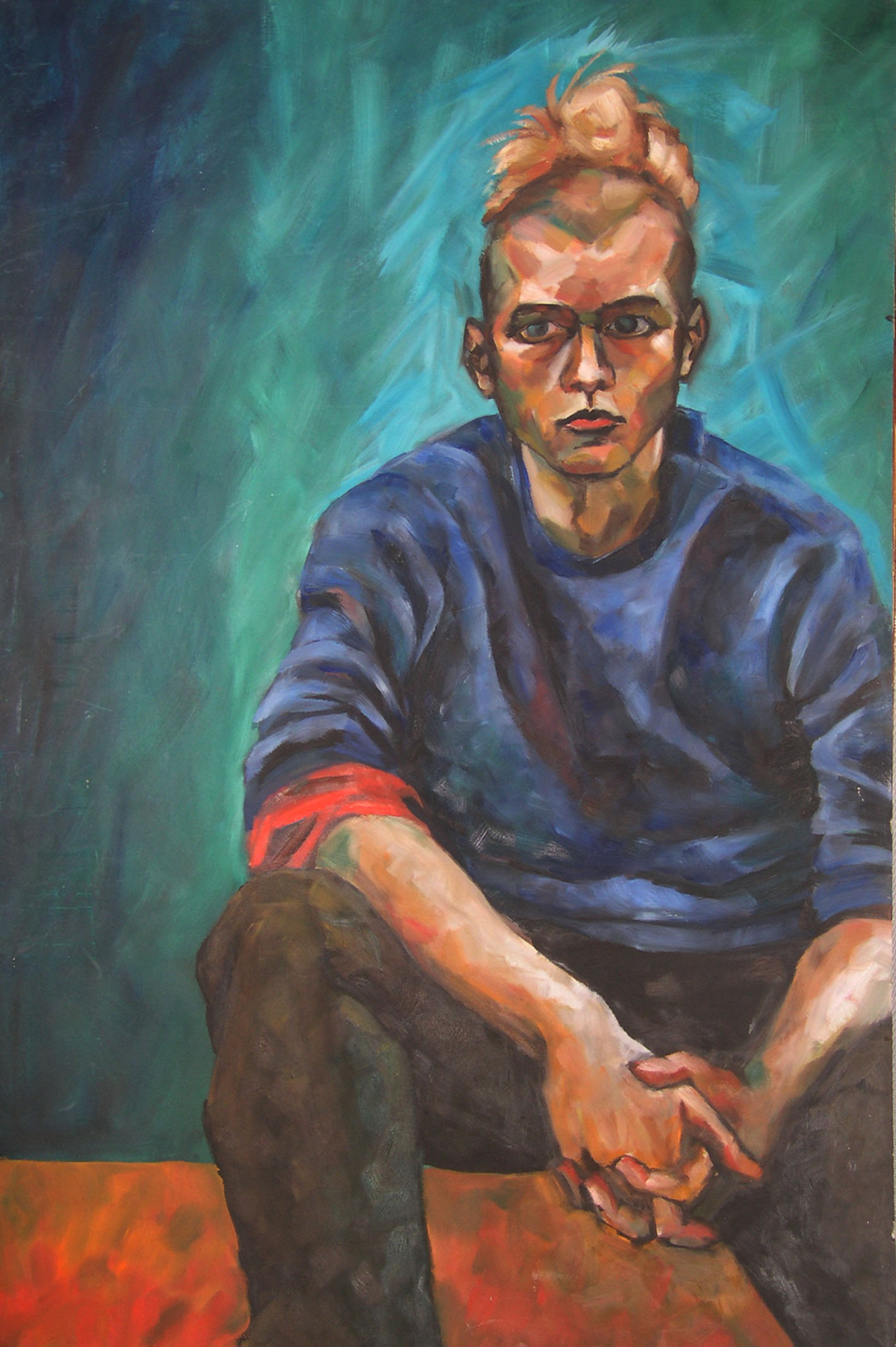 Portrait d'après nature (huile)