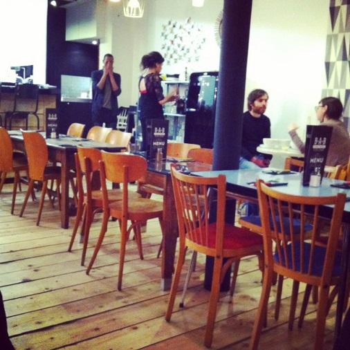 Bar à burger salle de restaurant