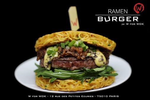 ramen burger w for wok restaurant paris