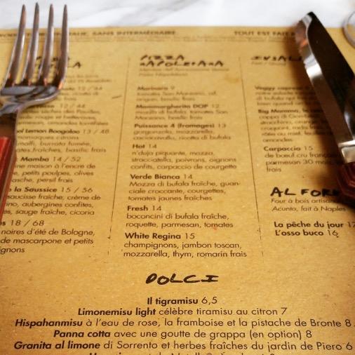 white regina pasta truffe east mamma restaurant paris  carte menu