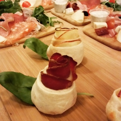 Papelli restaurant italien paris  pizza bouquet de roses