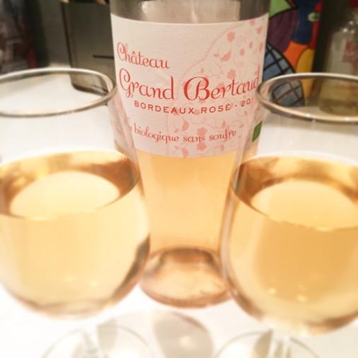 vin rosé bordeaux château bertaud biologique sans sulfite