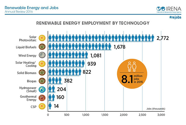 IRENA jobs 2016 category
