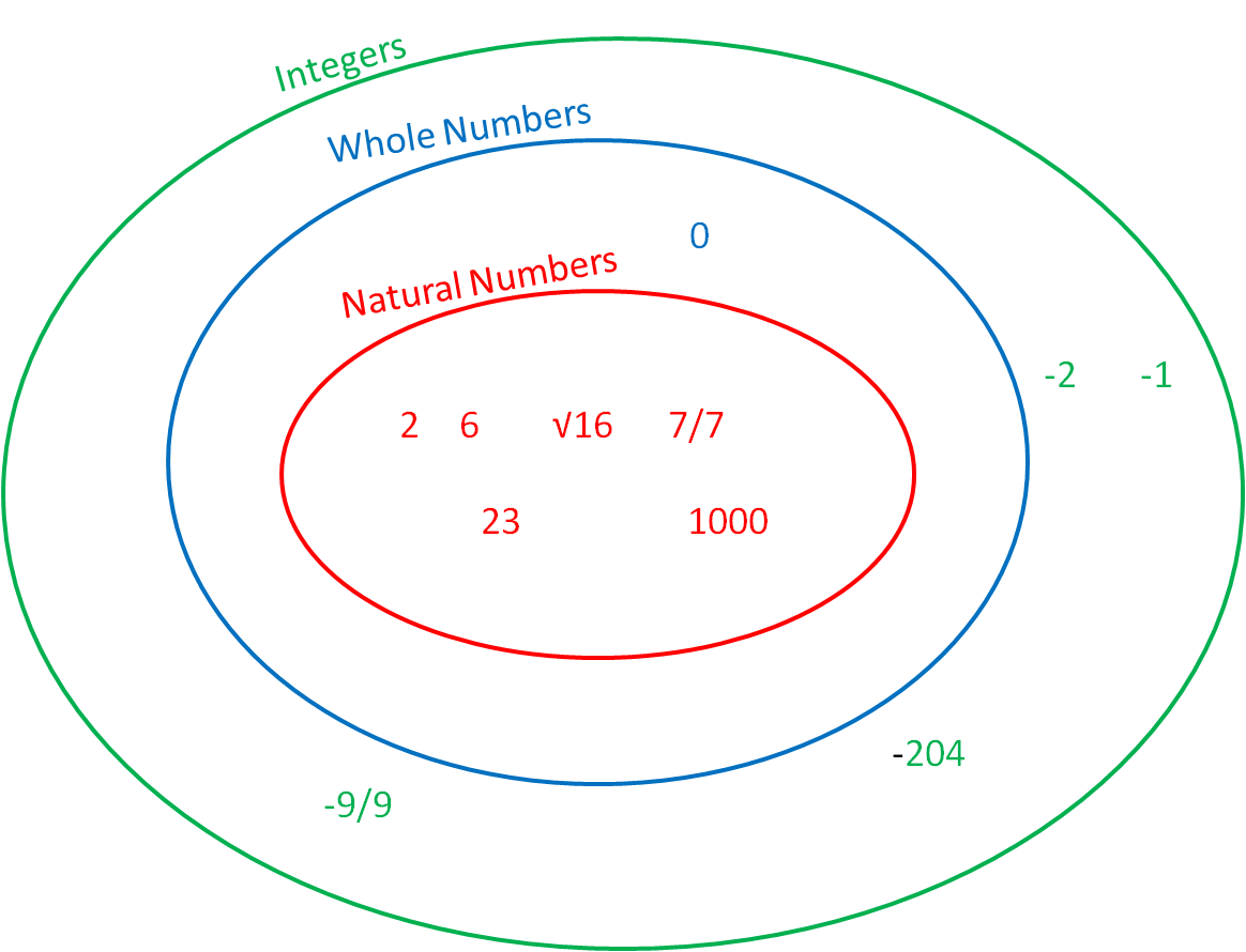 Number Types Worksheet