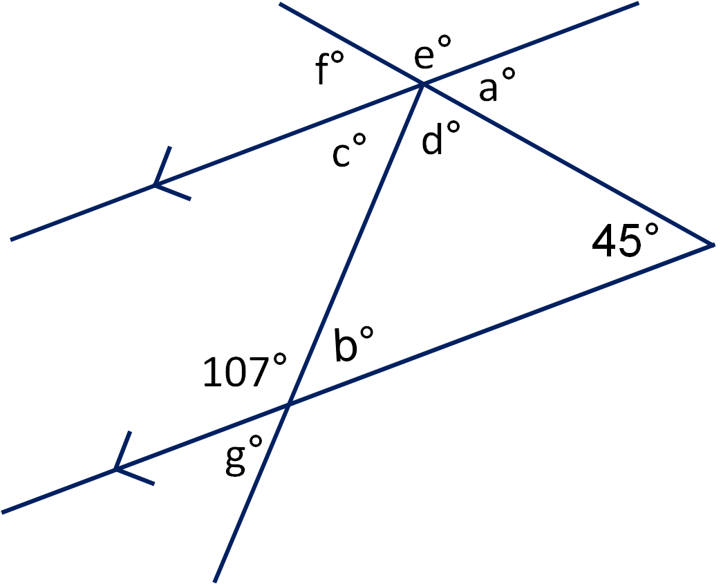 Angles In Triangles And On Parallel Lines 2